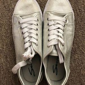 Seven7 Silver Glitter Sneakers